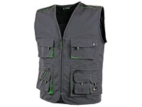 Men ́s working vest SIRIUS DARIEN, grey-green