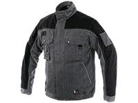 Jacket ORION OTAKAR, prolonged version, men's, grey-black