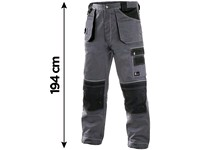 Workng trousers to waist ORION TEODOR, prolonged, men's, grey-green
