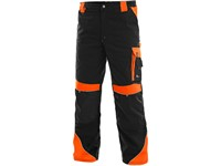 Working trousers to waist SIRIUS BRIGHTON, black-orange