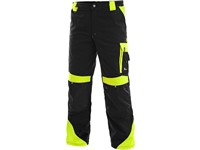 Working trousers to the waist SIRIUS BRIGHTON, black-yellow
