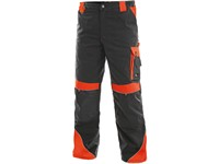 Working trousers SIRIUS BRIGHTON, grey-red