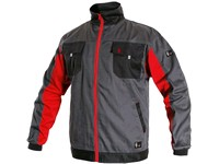 Jacket CXS PHOENIX PERSEUS, grey-red