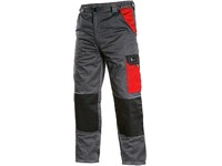 Working trousers PHOENIX CEFEUS, grey-red