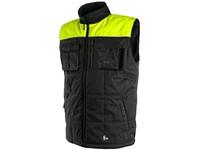 Pánská zimní vesta SEATLE, fleece, černo-žlutá