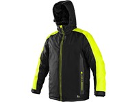 Padded jacket BRIGHTON, winter, black-yellow