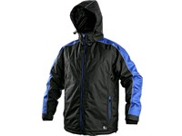 Padded jacket BRIGHTON, winter, men's, black-blue