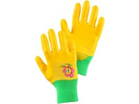 Gloves DRAGO-BLISTER, children, dipped in nitrile, size 05