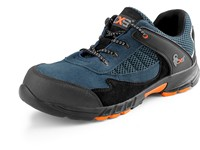 Low footwear CXS LAND EIVISSA S1 with steel toe cap, black-blue