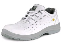 Low footwear LINDEN O1, perforated, white-grey