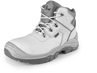 Ankle footwear OAK S2 with steel toe cap, white