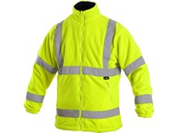 High visible fleece jacket PRESTON, men's, yellow