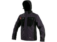 Softshell jacket TULSA, men´s, grey-black