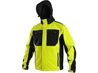 Softshell jacket TULSA, men´s, yellow-black