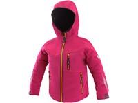 Dětská bunda LEDUC, fuchsie červeno - oranžová