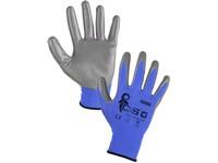 Povrstvené rukavice CXS CERRO, modro-šedé