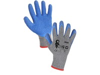 Povrstvené rukavice COLCA, šedo-modré