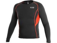 Pánské funkční tričko COMFORT, dl. rukáv, černo-oranžové