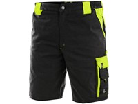 Men ́s working shorts SIRIUS BRIGHTON, black-yellow