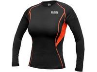 Dámské funkční tričko COMFORT, dl. rukáv, černo-oranžové