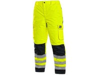 Trousers CARDIFF, high visible, padded, men´s, yellow
