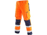 Trousers CARDIFF, high visible, padded, men´s, orange