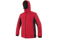 Padded softshell jacket VEGAS, winter, men´s, red-black