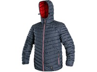 Men ́s padded jacket  MODESTO, winter,  blue-red