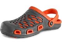 Mens' flip-flop CXS TREND, grey-orange