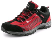 Low footwear softshell, CXS SPORT, red-black