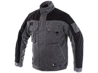 Men´s padded jacket ORION OTAKAR, prolonged version for height  194cm, men´s, grey-black
