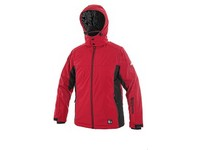 Children padded softshell jacket VEGAS, winter, red-black