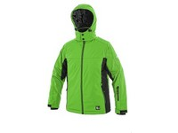 Children padded softshell jacket VEGAS, winter, green-black