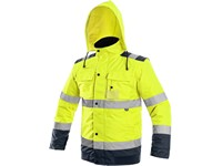 High visible padded jacket  LUTON, 2v1, yellow-blue