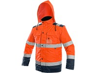 High visible padded jacket  LUTON, 2V1, orange-blue