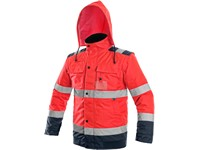 High visible padded jacket LUTON, 2V1, red-blue