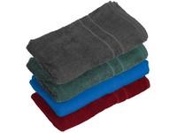 Froté ručník, 50 x 100 cm, středně modrý