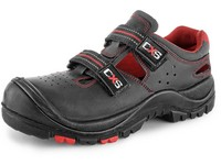 Sandal leather CXS ROCK MICA S1P, composite toe cap, kevlar midsole, black