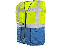 High visible two-colored BOLTON, men's, yellow-blue
