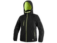 Children ́s  softshell  jacket DURHAM, black-yellow