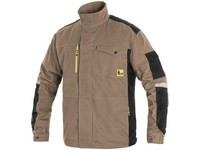 Workig jacket CXS STRETCH, men's, beige-black