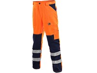 Men ́s trousers NORWICH, high visible, orange-blue