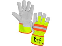 Gloves HIVI, combined, yellow-orange, size 10,5