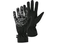 Rukavice zimní FREY, černé s reflexním potiskem, vel. 10