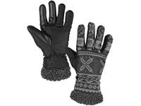 Rukavice zimní FULLA, šedé s černým potiskem, vel. 10