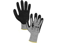 Gloves NITA anticut, fingers dipped in nitrile with sandy finish