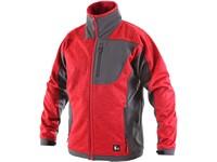 Pánská softshell bunda FRESNO, červeno-šedá