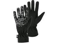 Winter gloves FREY, black,  with reflex printing