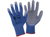 Gloves BRITA DOTS, dipped in PU and with PVC dots