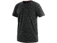 Tričko CXS DARREN, krátký rukáv, potisk CXS logo, černé